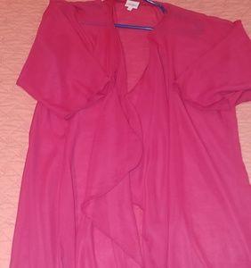 Hot pink Lularoe Shirley kimono